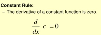 Derivative of constant